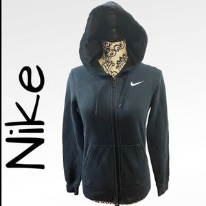 NIKE Black & White Full Zip hoodie